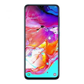 Galaxy A70 blue front