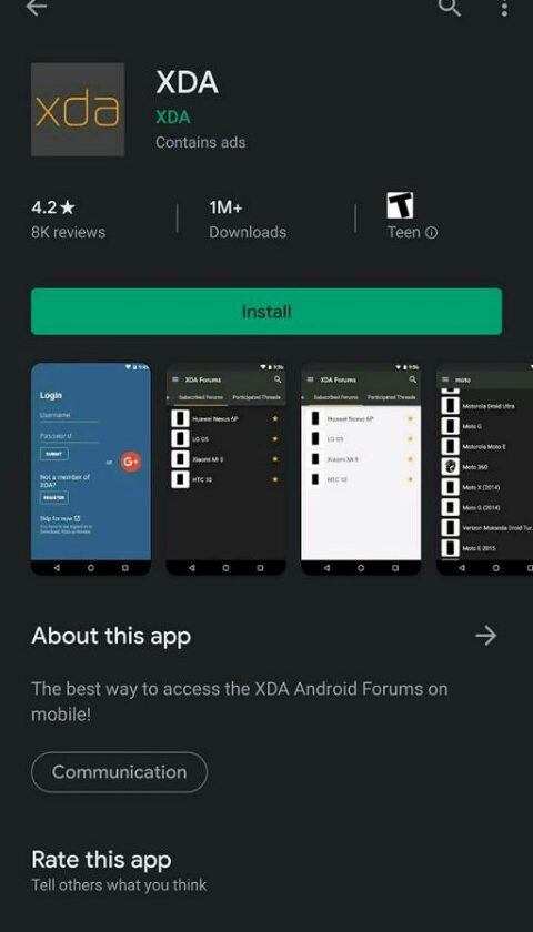 Google Play Store Dark Theme 6